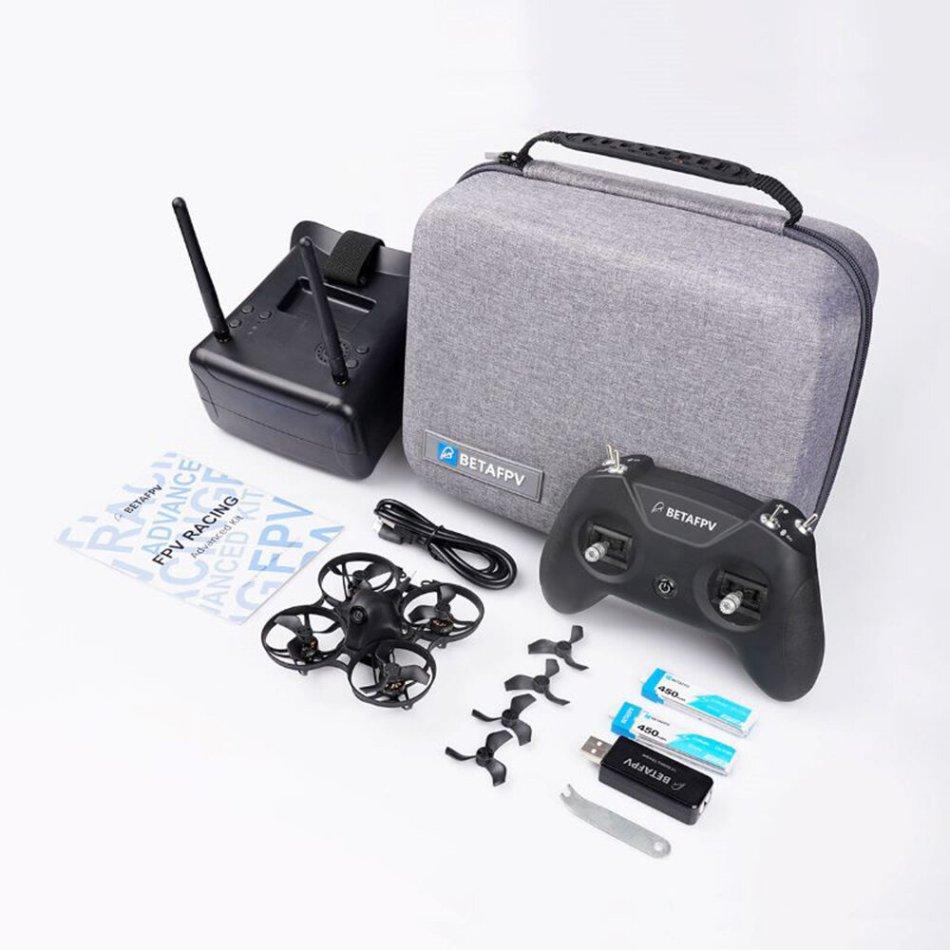 BETAFPV Meteor75 Lite RTF Whoop Advanced Kit 2SE Indoor FPV Racing Drone w/ Frsky D8 Receiver LiteRadio 2 & VR01 FPV Goggles