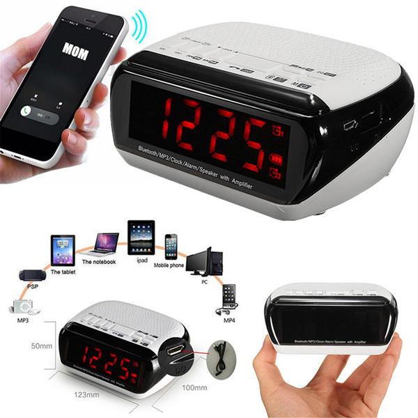 Bluetooth Led Wireless Speaker Mic Lcd