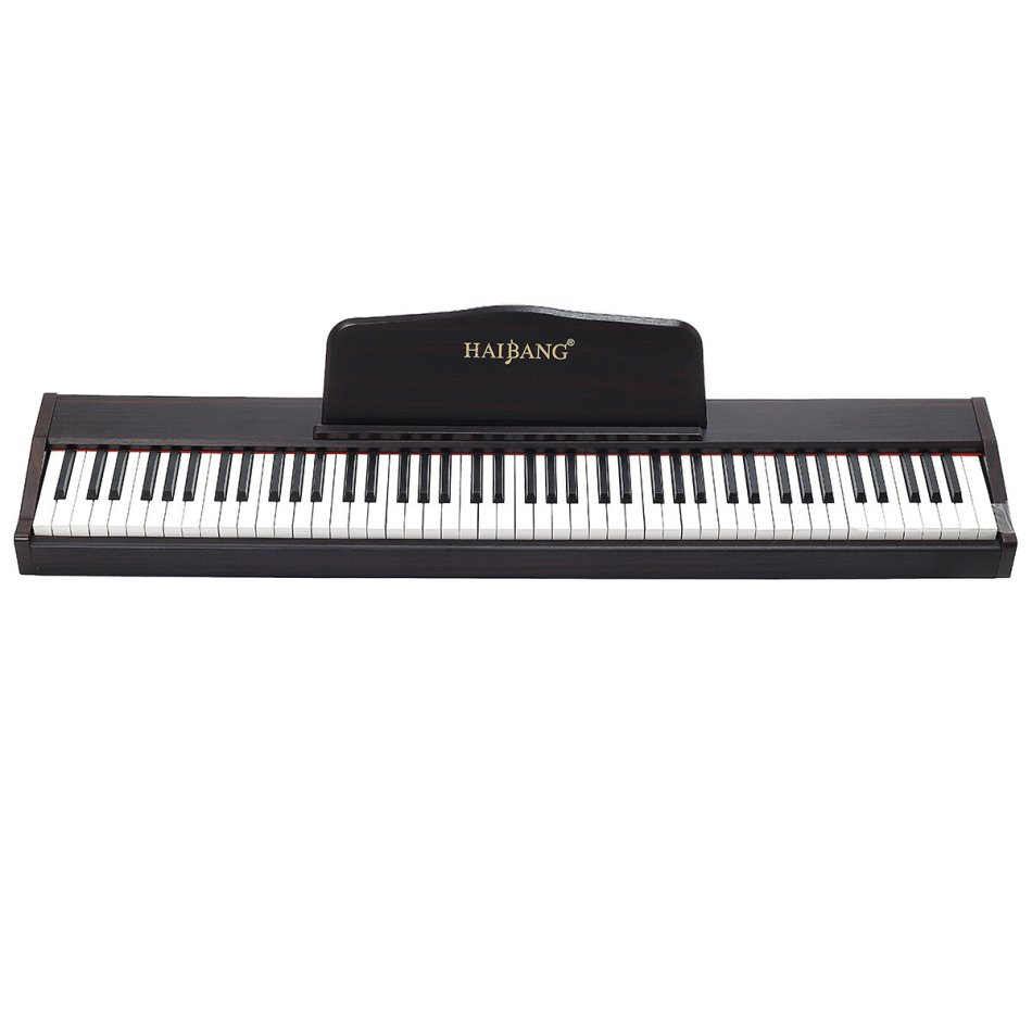 HAIBANG DL-100 88-key Velocitys-Sensitive Keyboard 128 Polyphonic Electric Piano with Headphones