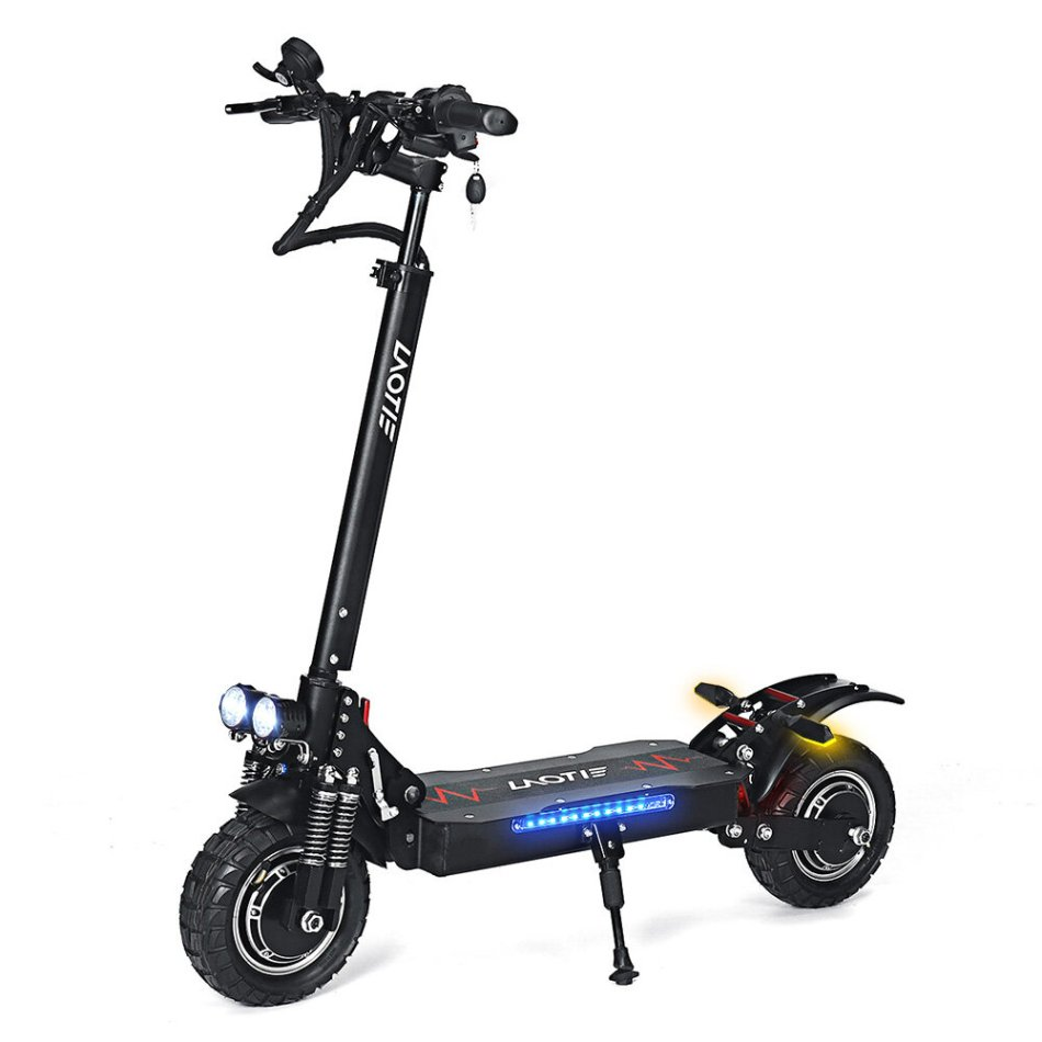 LAOTIE® L8S Pro 52V 28.8Ah 21700 Battery 2x1200W Dual Motor 60km/h Max Speed Off-Road Electric Scooter 10 Inch 100km Mileage Hydraulic Brake System Max Load 150kg EU Plug