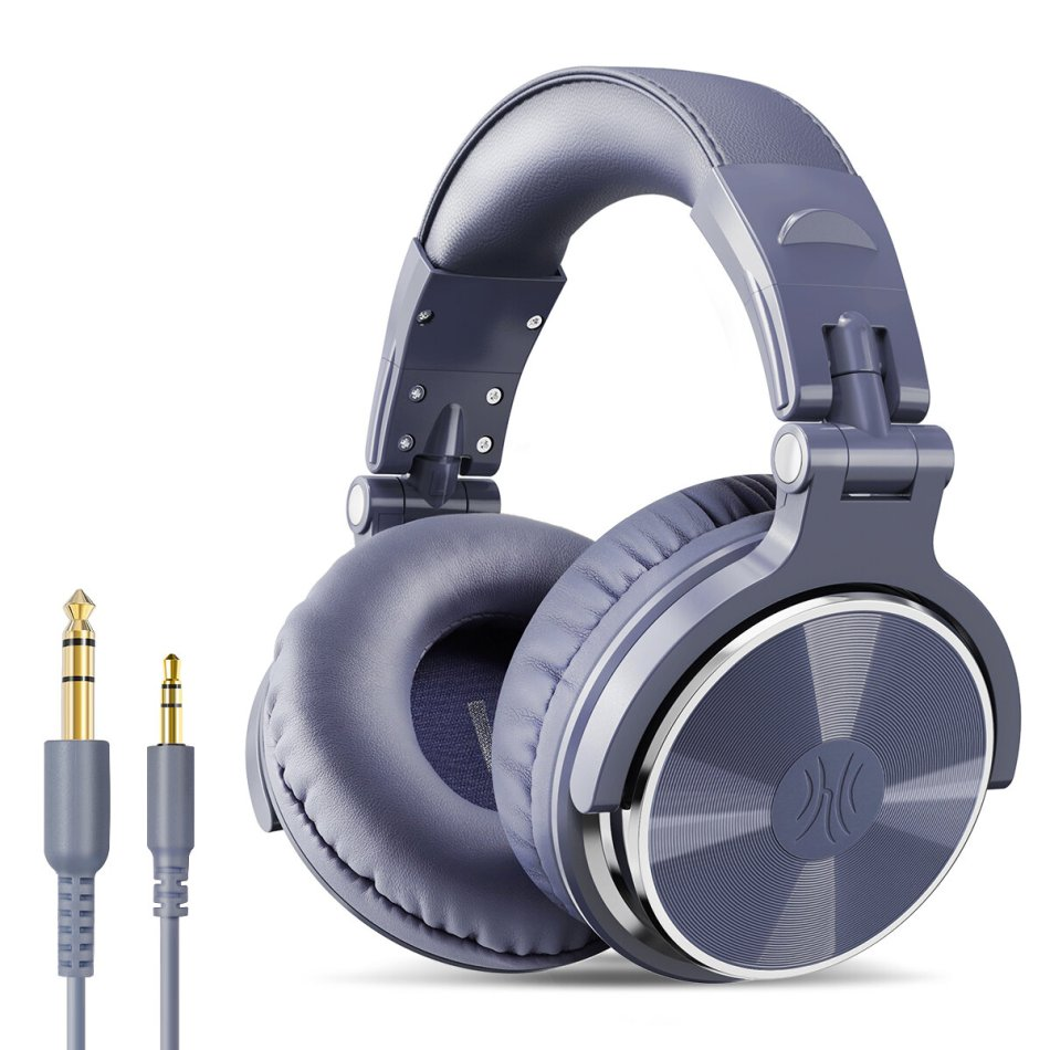 Oneodio Pro-002 Wired Headphones HIFI Bass 50MM Drivers Noise Reduction Foldable 3.5MM 6.35MM Over-Ear Studio DJ Gaming Headset with Mic
