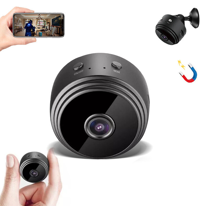 GUUDGO A9 1080P HD Mini WIFI AP USB IP Camera 150° Wide Angle Hotspot Connection Wireless DVR Night Vision Camcorder Camera Baby Monitor for Home Safety