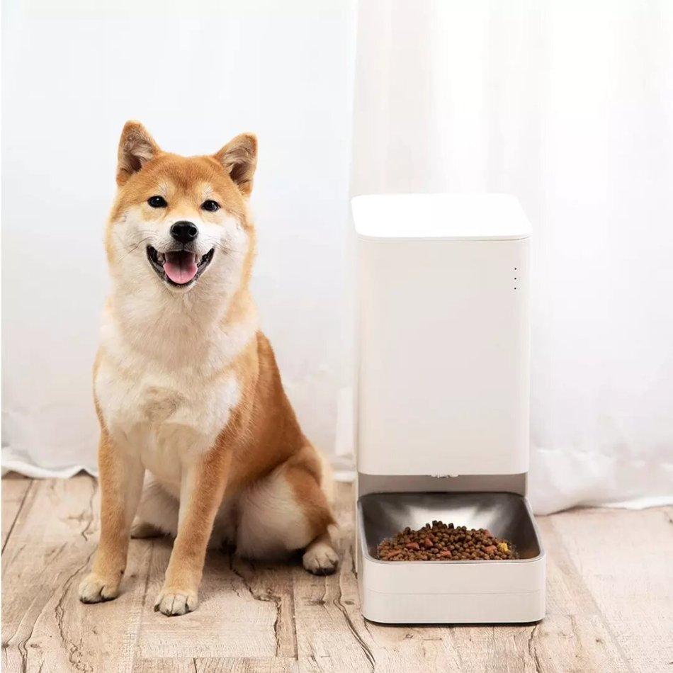Xiaomi Mijia Smart Automatic Pet Food Dispenser Feeder Bowl APP Control Grain Delivery Container Intelligent Linkage For Dogs Cats Drinking Water Food Feeding Pets Supplies Accessories