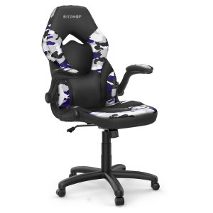 Στα €74.23 από αποθήκη Τσεχίας | BlitzWolf® BW-GC4 Gaming Chair Racing Style with Camouflage/PU/Mesh Material Reversible Armrest Widened Seat and High Back Design for Home Office