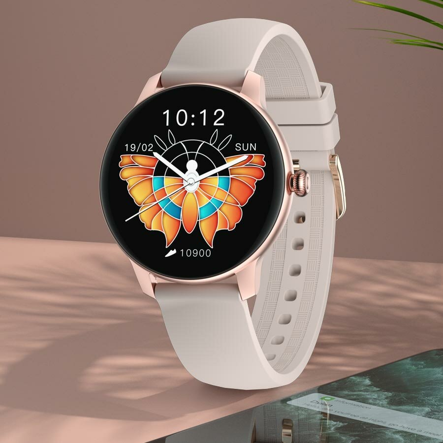 [Dynamic UI Display] IMILAB W11 2.5D Curved Screen Heart Rate Blood Oxygen Monitoring Female Menstrual Cycle Fitness Tracker Music Control IP68 Waterproof BT5.0 Female Smart Watch