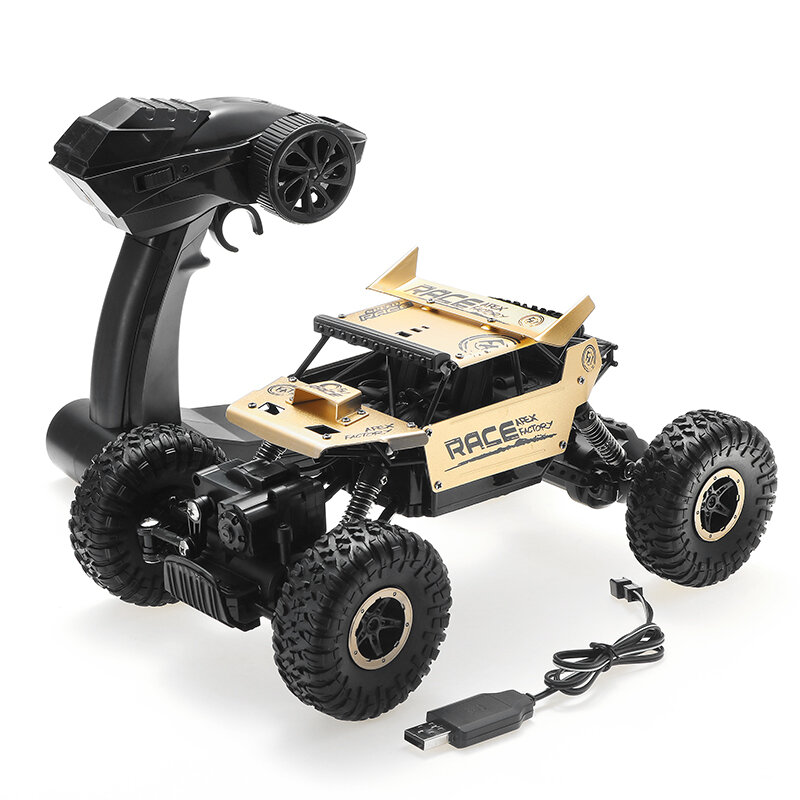 Flytec 9118 1/18 RC Car 2.4G 4WD Alloy Off Road RC Climbing Car RC Vehicle Model Gifts for Boys and Adults