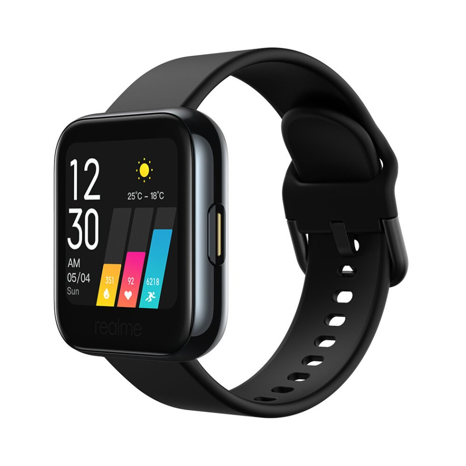Realme Watch 1.4inch Touch Screen IP68 Waterproof Wristband Real-time Heart Rate Blood Oxygen Monitor 14 Sport Modes Music Control Smart Watch
