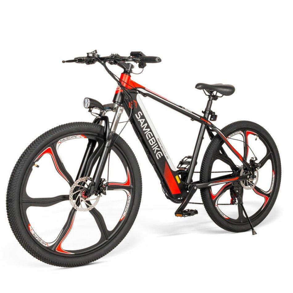 SAMEBIKE SH26 8Ah 36V 350W Electric Bike 26 in Alloy Integrated Wheel 30km/h Top Speed 70km Mileage 150kg Max Load E-bike Mountain Bike