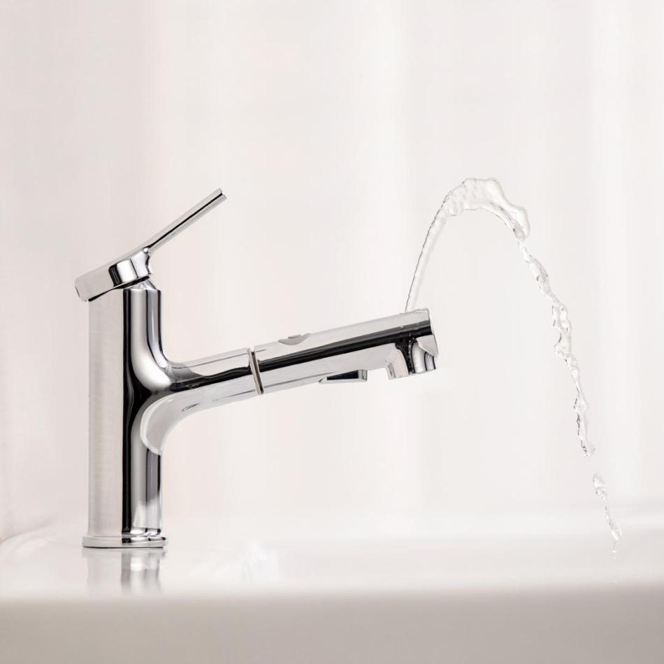 DABAI Bathroom Basin Sink Faucet With Pull Out Rinser Sprayer Gargle 2 Mode Mixer Tap from