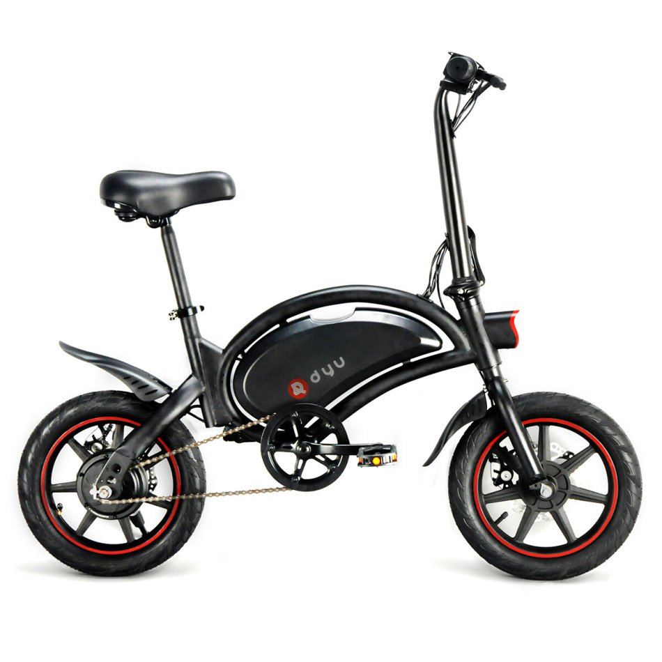 [EU Direct] DYU D3F 6Ah 36V 250W Folding Moped Electric Bike 14in 25km/h Top Speed 20-40km Mileage Max Load 120kg Intelligent E-Bike