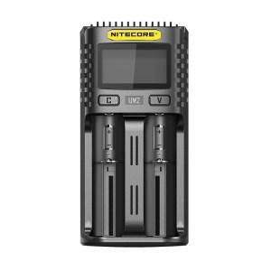 Στα 11€ από αποθήκη Κίνας | NITECORE UM2/UM4 LCD Display 5V/2A Lithium Battery Charger USB QC Smart Rapid Charger