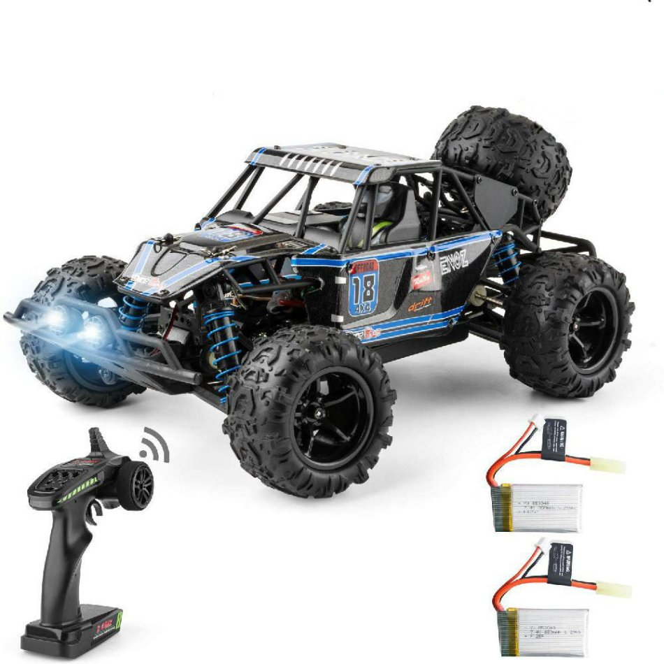 ENOZE 9303E with Two Batteries 1/18 2.4G 4WD 40km/h RC Car Electric Off-Road Vehicles RTR Model