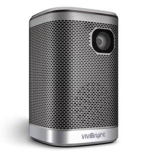 Στα 223€ από αποθήκη Τσεχίας | Vivibright L2 Portable Projector 4500Lumens 12000mAH Battery HIFI Speaker for 3D LED Beamer Support 4K Home Cinema Projector Same Screen Version