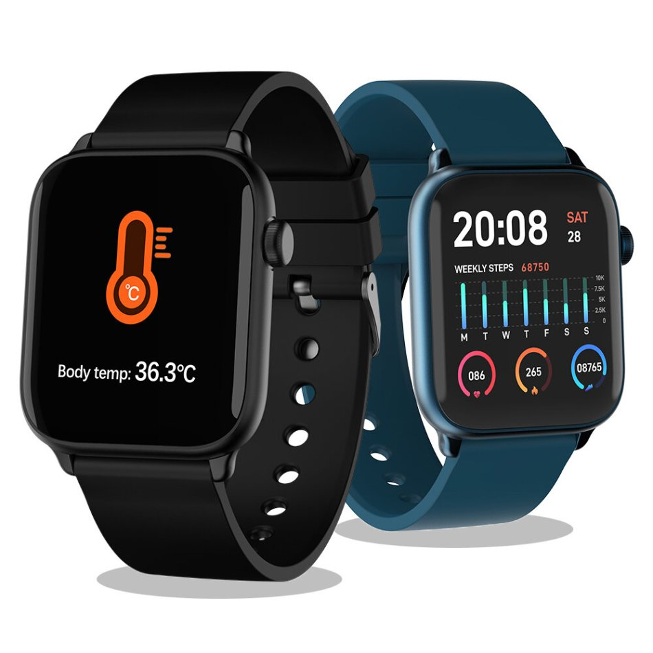 TICWRIS GTS Body Temperature Check Health Smart Watch Blood Oxygen Monitor Long Standby IP68 Wristband