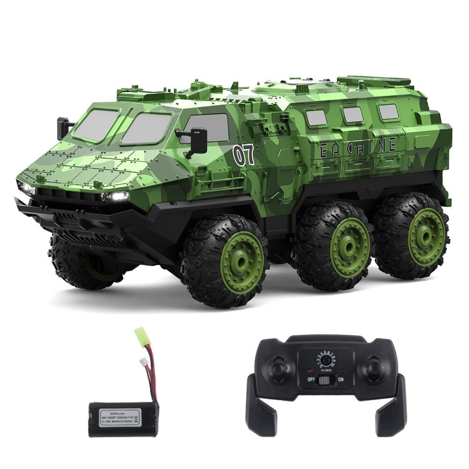 Eachine EAT07 1/16 2.4G 6WD Armored RC Car Full Proportional Control Vehicle Models