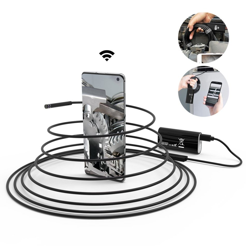 DIGOO DG-YPC99 5.5mm 720P 2 Megapixel Smart WIFI Borescope 3 in 1 Inspection Camera 1M/3M/5M Cable