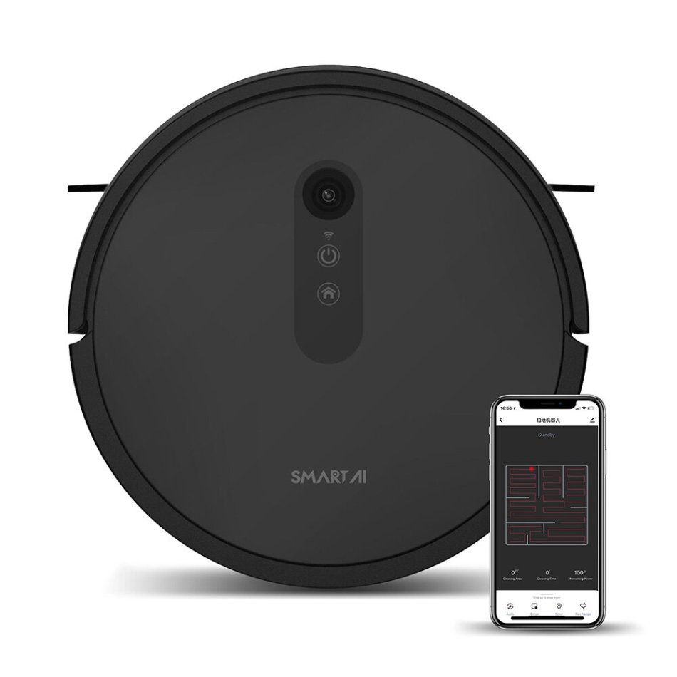 SMARTAI 30V Max Robot Vacuum Cleaner 2600Pa Sweeping Mopping VSLAM Navigation 8 Cleaning Modes 3 Gear Water Volume APP Remote Control Self Recharge