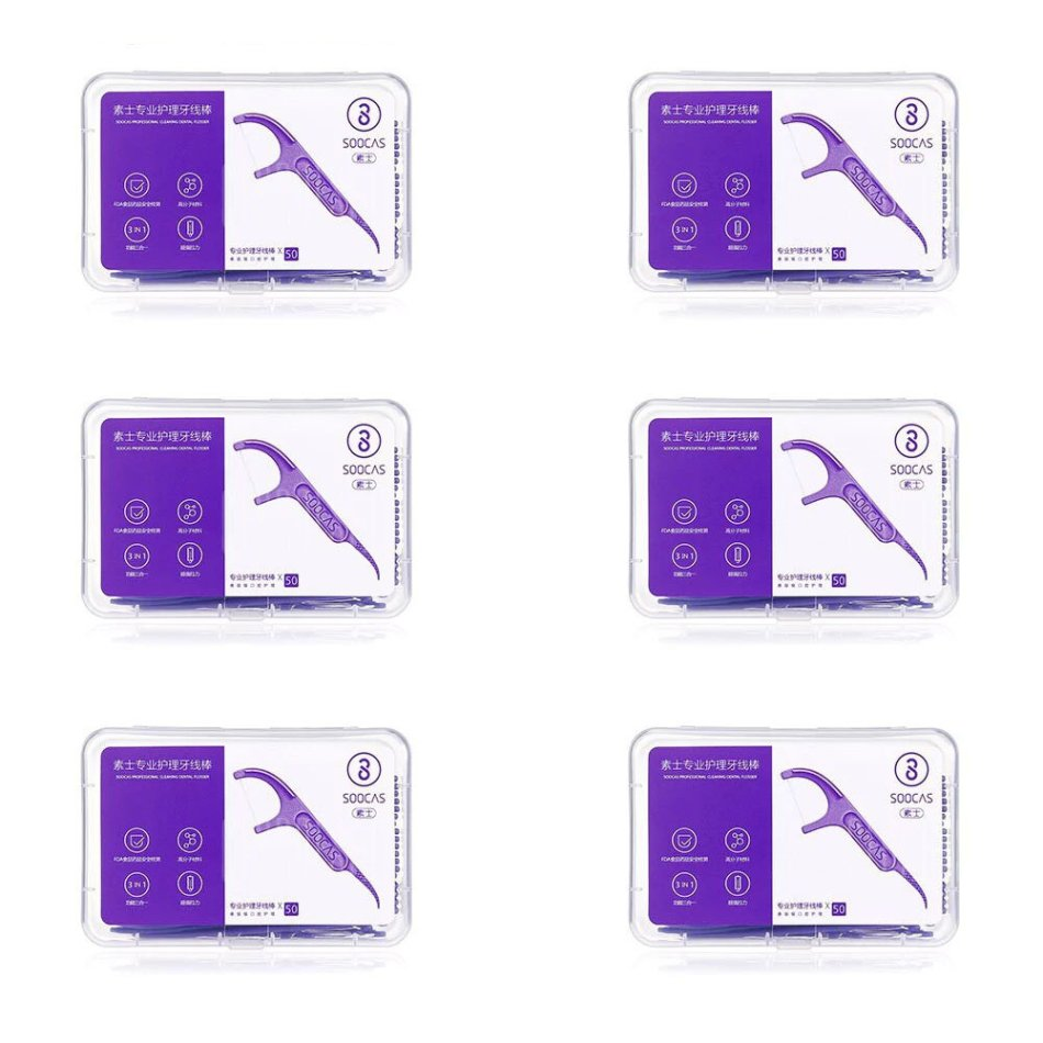 300pcs Soocas Professional Dental Flosser Ergonomic Design FDA Testing Food Grade from Xiaomi Youpin