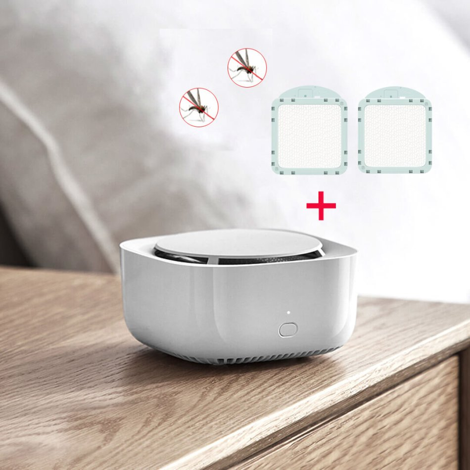 Xiaomi Mijia Mosquito Repellent Device Smart Version Mute Dispeller Insect Killer Light Wireless Timing Function with 2Pcs Replacement Mosquito Coils