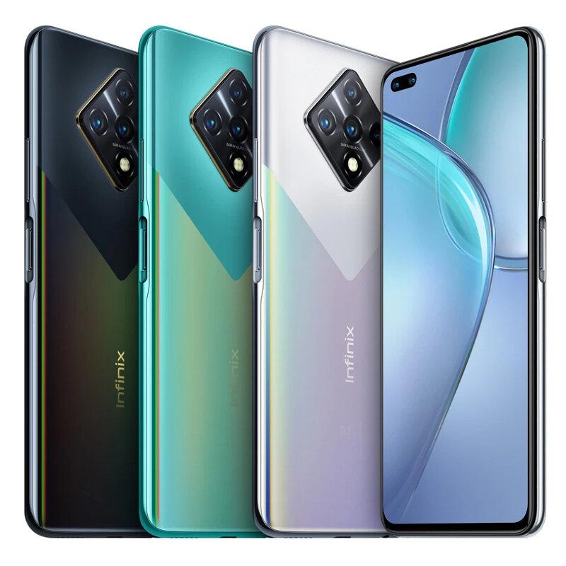 Infinix Zero 8 Global Version 64MP Quad Camera 8GB 128GB 6.85 inch 90Hz Refresh Rate 33W Fast Charge Helio G90T Octa Core 4G Smartphone