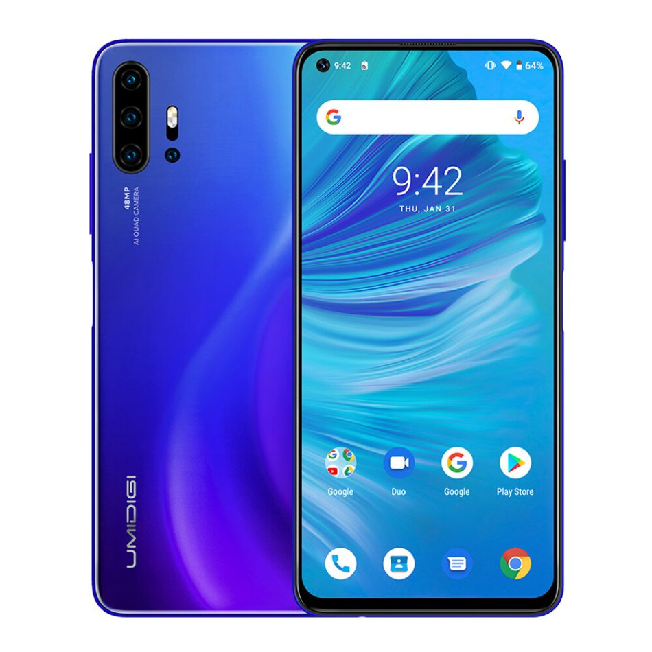 UMIDIGI F2 Global Bands 6.53 inch FHD+ Android 10 NFC 5150mAh 48MP Quad Rear Cameras 6GB 128GB Helio P70 Octa Core 4G Smartphone