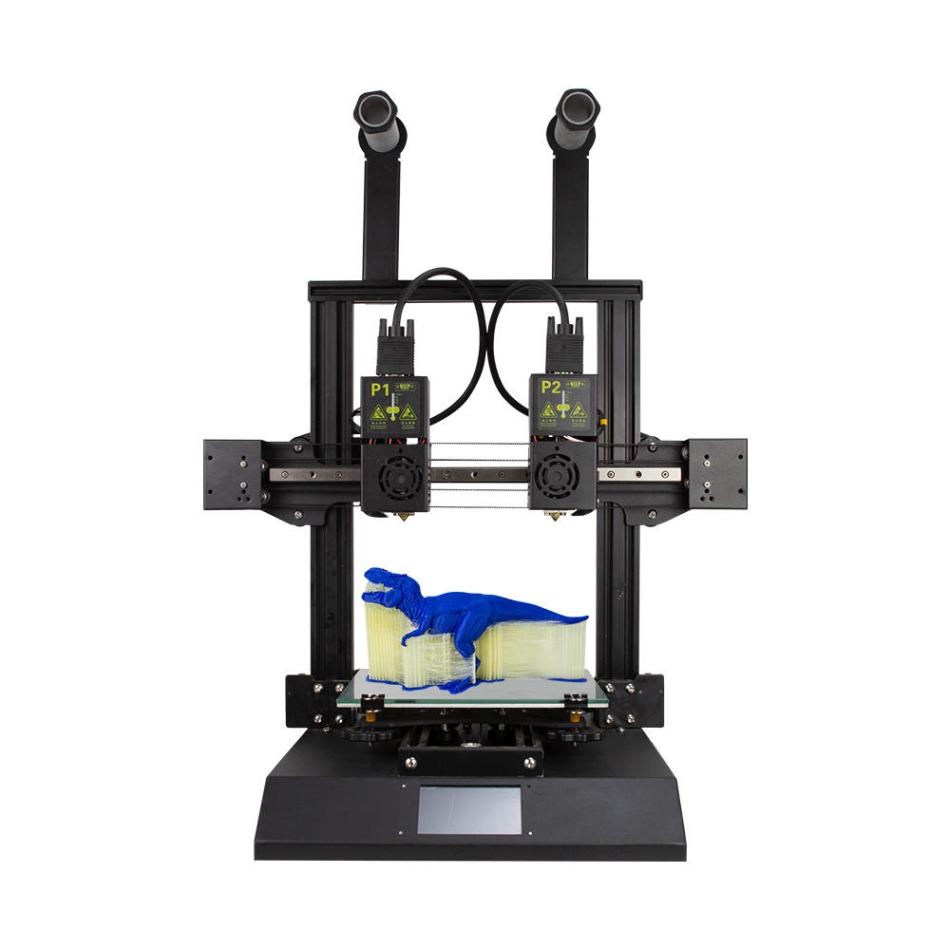 TENLOG® Hands 2 FDM 3D Printer Kit 220*220*250mm Print Size with Dual Nozzl Extruder/Powerful Mainboard/Modular Xaxis/Dual Motor/3.5inch Colorful Screen