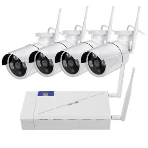 Στα 88€ από αποθήκη Τσεχίας | GUUDGO 4CH Wireless Wi-Fi 1080P IP Camera HDMI NVR Outdoor Night Vision Home Camera Security IR CCTV Camera System with NVR – EU Plug