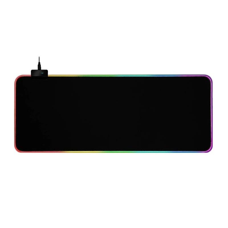 GMS-X5 RGB Light Gaming Mouse Pad Keyboard Mat USB Interface Computer Mousepad Desktop Backlit Mat