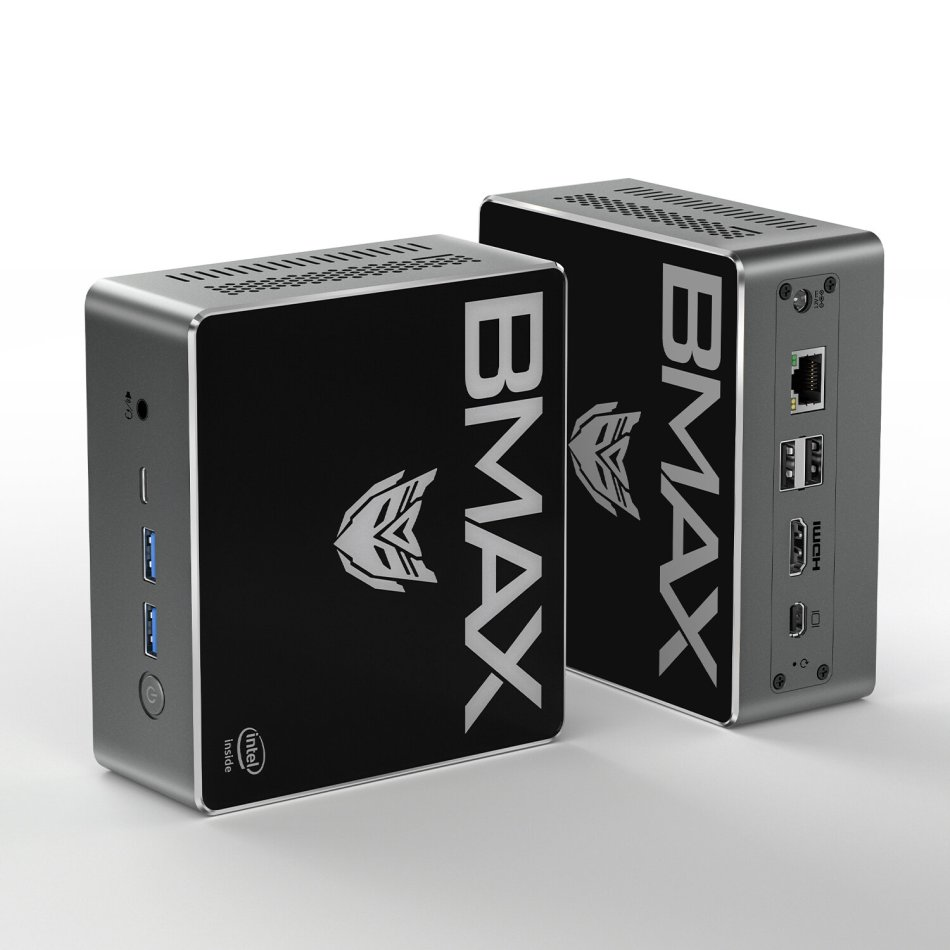 Bmax B3 Plus Mini PC Intel Pentium Gold 5405U 8GB DDR4 256GB NVMe SSD with Two Channel Speaker Intel 9th Gen UHD Graphics 610 Dual Core 2.3GHz BT5.0 HDMI Type C Win10 WiFi