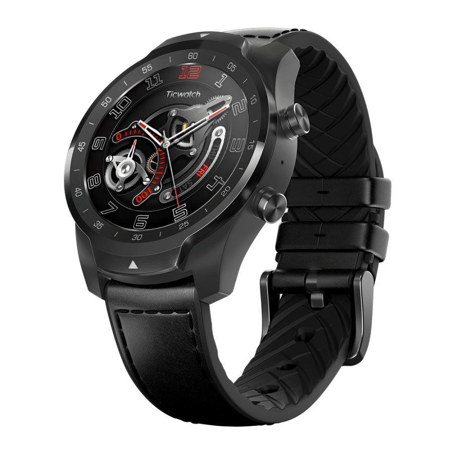 TicWatch Pro bluetooth Version NFC Payment WIFI GPS Two Modes 1.4inch Full Touch Screen IP68 Waterproof AI Heart Rate Monitor Smart Watch