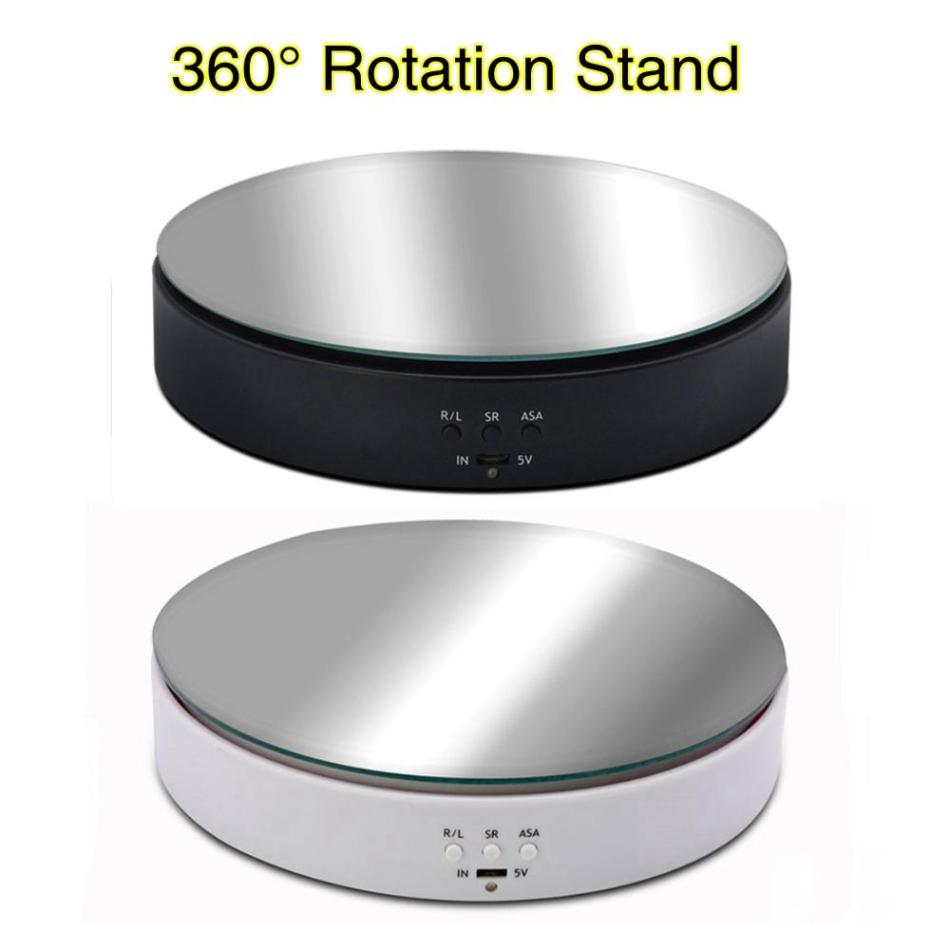 10KG Load-bearing Photography Photo Studio Speed Adjustable Rotary Jewelry Display Stand 360 Degree Electric Product Turntable