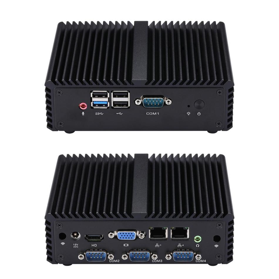 Mini Desktop PC Intel Celeron J1900 4GB RAM 64GB SSD with 4COM Quad Core 2GHz to 2.41GHz Intel HD Graphics HDMI VGA Win7/8/10/Linux