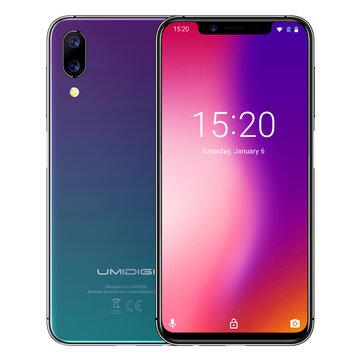 UMIDIGI One 5.9 Inch FullSurface Dual 4G VoLTE 4GB RAM 32GB ROM Helio P23 Octa-core 4G Smartphone