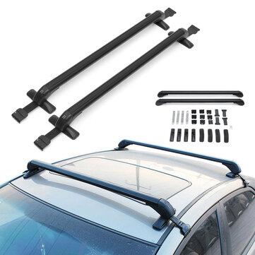 pair 105cm roof cargo rack cross bars luggage carrier holder anti theft car suv