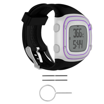 Silicone Wrist Band Strap +Tools for Garmin Forerunner 10/15 GPS Running Watch