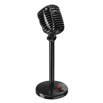 Docooler JIES Microphone Wired Mic USB Port Game Singing Mic for PC Computer With Sound Card