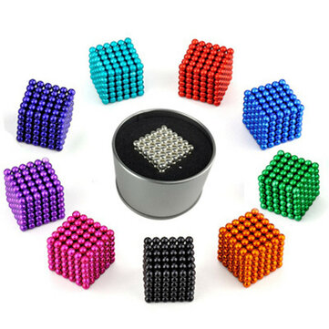 1000PCS 3mm Cube Buck Ball Mixcolour Magnetic Toys Neodymium N35 Magnet Indoor Toys