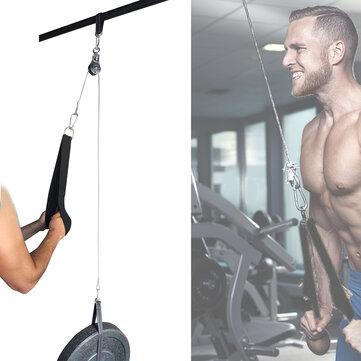 Ευρωπαϊκή αποθήκη   Max Load 300KG Home Fitness DIY Pulley Cable Machine Attachment System Arm Biceps Triceps Hand Strength Training Tools