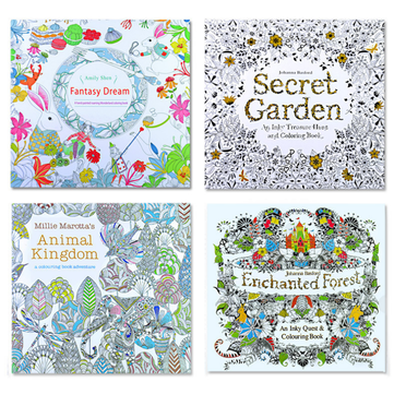 Double-sided 24 Pages Decompression Hand-painted Coloring English Book Children Adult Drawing Coloring Book Painting Paper