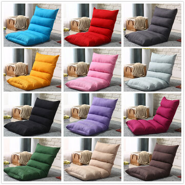 folding lounger sofa floor chair tatami seat pad height adjustable lazy backrest cushion chair office home balcony furniture