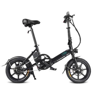 FIIDO D3 36V 5.2Ah 250W 14 Inches Folding Moped Bicycle 25km/h Max 35KM Mileage Mini Electric Bike