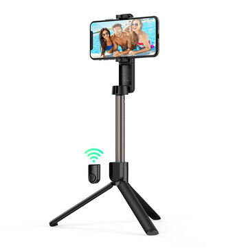 Share to: BlitzWolf® BW-BS2 bluetooth Selfie Stick Remote Control Tripod with Rotatable Phone Clamp – Black