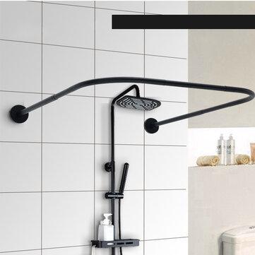 u shape extendable telescopic shower curtain rod 80 130cm rail rod