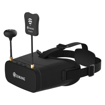 Eachine EV800DM Varifocal 5.8G 40CH Diversity FPV Goggles with HD DVR 3 Inch 900*600 Video Headset Build in 2000mAh Battery