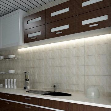 4w 6w 8w hand sensor kitchen cupboard led rigid strip light under cabinet shelf counter lamp dc12v