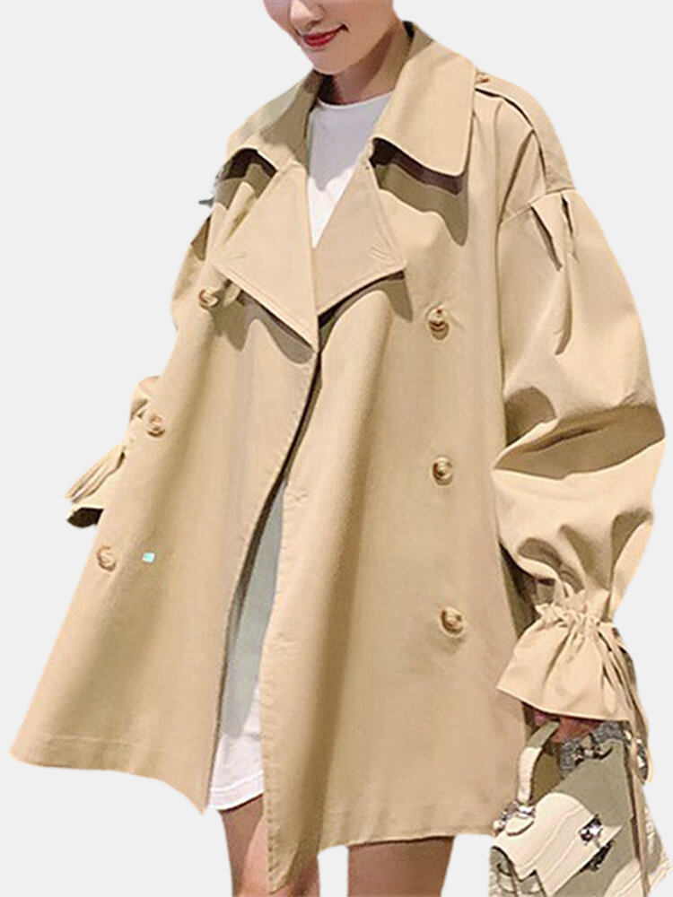 Best Solid Color Long Sleeve Loose Windbreaker Jacket For Women You Can Buy