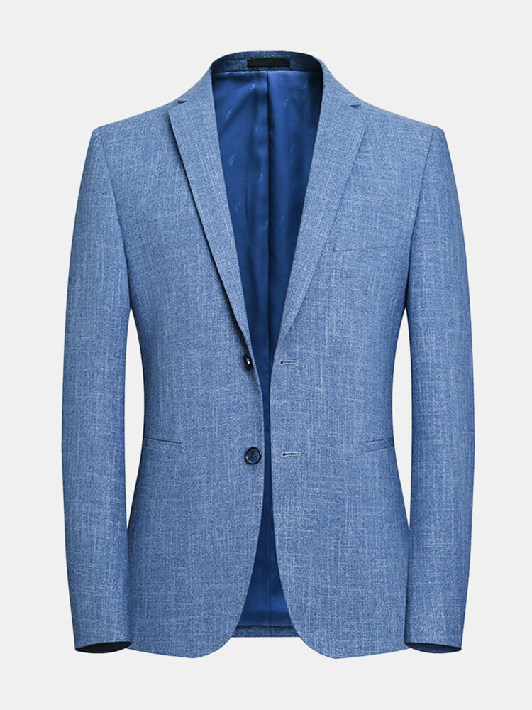 Best Slim Fit Easy Care Solid Color Blue Blazer for Men You Can Buy