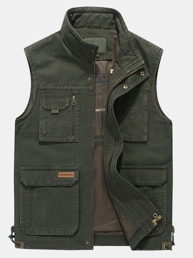 Best Plus Size Casual Outdoor Cotton Multi Functions Loose Vests for Men You Can Buy