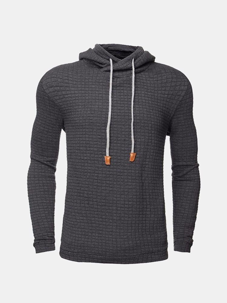 Best Fall Winter Cozy Hoodie Warm Hooded Solid Color Slim Fit Sweatshirt for Men You Can Buy