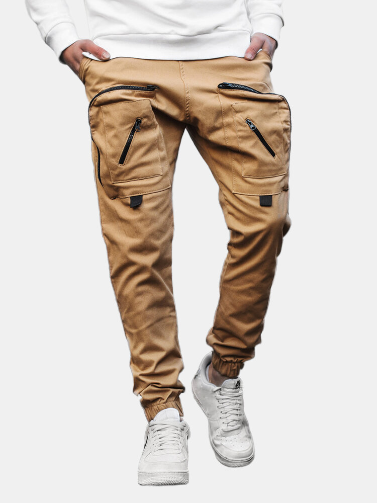 Best Mens Design Overall Elastic Drawstring Waist Tooling Pocket Cargo Pants You Can Buy